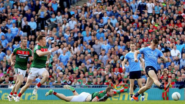 Con O'Callaghan's goal was bad for Mayo to give away as they handed him the centre to waltz through. Photograph: James Crombie/Inpho