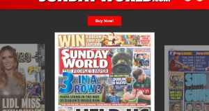 SundayWorld.com: INM has removed news articles from the site and links to older stories redirect to this home page.