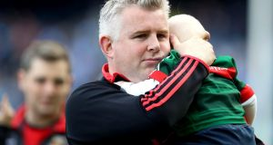 "Mayo manager Stephen Rochford after the game:  ""It's not any easier. It's very difficult losing finals by one point, two points."" Photograph: Tommy Dickson/Inpho"