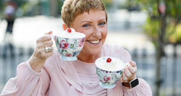 "Majella O'Donnell at the launch of the Irish Cancer Society's  breast-cancer fundraising campaign ""Cups Against Cancer"" on Monday"