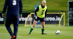 Stephanie Roche returns from injury for the Republic of Ireland's World Cup qualifier against Northern Ireland.  Photograph: Ryan Byrne/Inpho