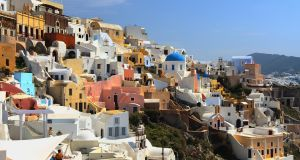 Santorini: the island is saturated with tourists and cannot absorb any greater numbers. Photograph: Getty Images/iStockphoto
