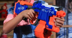 Doctors have warned that Nerf guns  can lead to serious eye injuries. File photograph: Jonathan Brady/PA