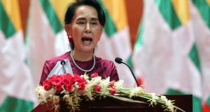 After a mass exodus of Rohingya Muslims sparked allegations of ethnic cleansing, Myanmar leader Aung San Suu Kyi said Tuesday her country does not fear international scrutiny. Photograph: Aung Shine Oo/ AP Photo