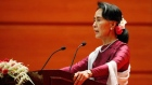 Aung San Suu Kyi condemns 'all human rights violations' in Myanmar
