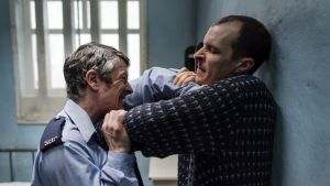 The core relationship is that between Larry Marley (Tom Vaughan-Lawlor), a thoughtful republican prisoner, and Gordon Close (Barry Ward), a stressed guard
