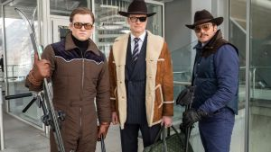 Taron Egerton, Colin Firth and Pedro Pascal, in Kingsman: The Golden Circle