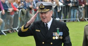 Vice Admiral Mellett: nominated by government as chair of the EU's military committee, the highest military role in the union. Photograph: Alan Betson