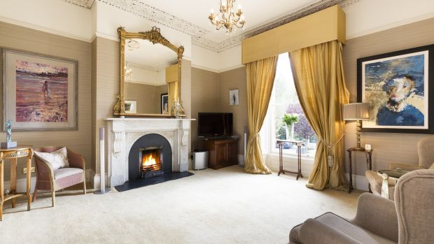 As is often the case, the reception rooms are the real glory of this period property