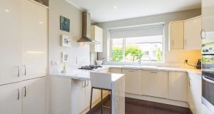 The kitchen at number 11 Braemor Drive, Churchtown, Dublin 14