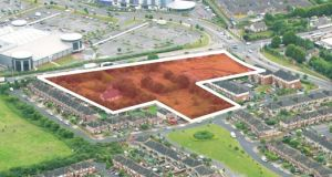 Pinnock Hill: The site on the Dublin Road could accomodate up to 120 apartments, according to the planners.
