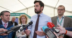 Minister for Housing Eoghan Murphy, speaks to the media about the Residential Tenancies Boardâ' s latest Quarterly Rent Index Report on the opening day of the National Ploughing Championships in Screggan, Co Offaly. Photograph: Laura Hutton/Collins Photo Agency