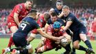 Tadhg Beirne scores a try last season against Munster. Photograph: Inpho