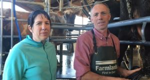 Louise Purdon and her husband Jim, who left Ireland to run a dairy farm in New Zealand