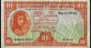 "The  ""Lady Lavery"": Dix Noonan Webb auctioneers has announced the sale of the most comprehensive private collection of Irish 10-shilling notes ever assembled."