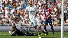 Karim Benzema has signed a new three-year deal at Real Madrid with a reported €1 billion buyout clause. Photograph: Susana Vera/EPA