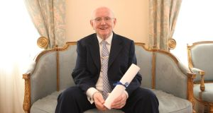 Jimmy Magee at  Mansion House in Dublin after being awarded the Lord Mayor's Award in 2010. File photograph: Gareth Chaney Collins