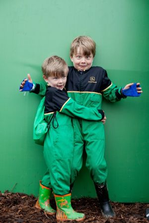 The Purcell brothers - six-year-old Patrick and four-year-old Breandan - from Thurles, Co Tipperary