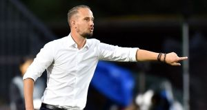England women's coach Mark Sampson: despite his departure, tensions will surely simmer among the group and it's difficult to see how this will affect the team in the future. Photograph: Daniel Mihailescu/AFP/Getty Images