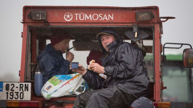 John Hanley and Pauline Lavin from Roscommon at the National Ploughing Championships. Photograph: Tom Honan
