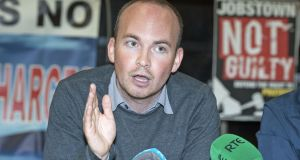 Paul Murphy TD said the decision by the DPP to abandon the trials would  strengthen calls for an inquiry into the Garda investigation of the protest in Jobstown. Photograph: Dave Meehan
