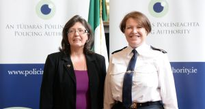 Josephine Feehily (left), chairwoman of the Policing Authority and former Garda commissioner Nóirín O'Sullivan. Photograph: Eric Luke