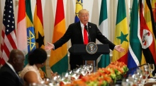 Donald Trump struggles to pronounce 'Namibia' during African leaders speech