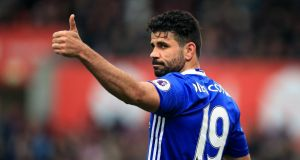 Diego Costa is to leave Chelsea  and  return to Atletico Madrid. Photograph:    Mike Egerton/PA Wire