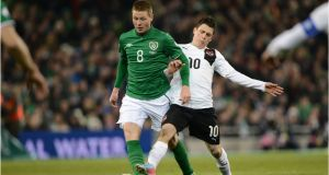 Everton midfielder James McCarthy is unlikely to be fit for the Republic of Ireland's  final two World Cup qualifiers. Photograph: Dara Mac Dónaill