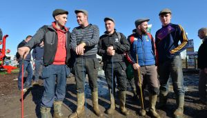 Farmers from Bunclody on the third and final day of the National Ploughing Championships. Photograph: Alan Betson