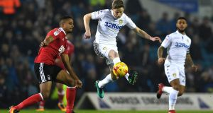 Republic of Ireland midfielder Eunan O'Kane has played a key role in Leeds United's fine start to the season in the Championship. Photograph:  Gareth Copley/Getty Images