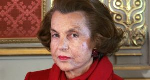 Liliane Bettencourt: Born in Paris, she joined her father Eugene Schueller's firm as an apprentice at 15, mixing cosmetics and labelling shampoo.  Photograph: Patrick Kovarik/AFP/Getty Images