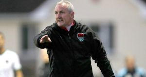 John Caulfield: Cork City manager will be hoping his side take a giant step towards the title – and perhaps win it – by defeating Limerick. Photograph: Bryan Keane/Inpho