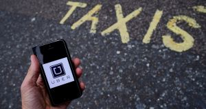 London's transport regulator on Friday stripped Uber of its licence to operate from the end of the month. Photograph: Reuters/Toby Melville