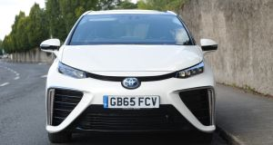 The hydrogen-powered Toyota Mirai. Photograph: Aidan Crawley