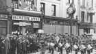 A British Army recruiting Band in Patrick St, Cork. Photograph: courtesy of Evening Echo