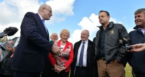People will notice if Varadkar  is insufficiently enthusiastic in mounting a tractor or handling a farm implement while trudging through muck at a  ploughing match. Photograph: Alan Betson