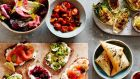 """Party Food to Share"":  suggestions for breakfast and brunch parties, lunch, dinner, and special occasion feasts, all focusing on sharable    platters"