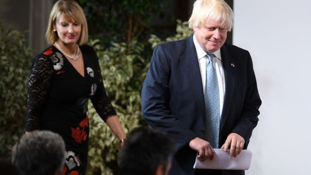 British foreign secretary Boris Johnson arrives ahead of prime minister Theresa May's landmark Brexit speech in Florence, Italy. Photograph: Jeff J Mitchell/Getty Images