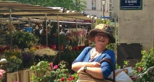 Jean O'Sullivan at the marché d'Aligre in Paris.