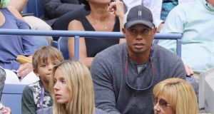 Tiger Woods watches the tennis US Open earlier this month in New York. Photograph: Getty Images