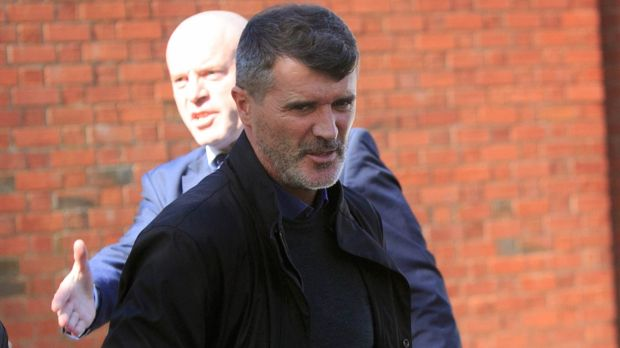 Roy Keane arrives at the funeral of sports broadcaster Jimmy Magee at the Church of St Laurence O'Toole Dublin. Photograph: Gareth Chaney Collins