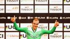 Mark Downey of Ireland celebrates winning during the Tissot UCI Track Cycling World Cup in the Netherlands last year. Photograph: Dean Mouhtaropoulos/Getty Images
