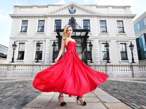 DUBLIN FASHION FESTIVAL: Dublin Town, the team behind the Dublin Fashion Festival, launch Dublin Fashion 2017: The Collective. Pictured is Sarah wearing a Pamela Scott creation. The Collective includes high-street and high-end retailers from across the capital.