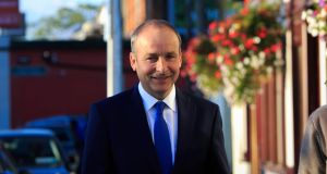 Fianna Fáil leader Micheál Martin's strategy is to assemble a minority administration with a patchwork quilt of Labour, the Social Democrats, the Greens and others. Photograph: Gareth Chaney/Collins