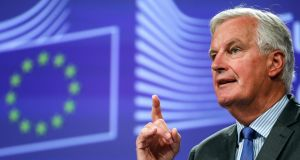"Michel Barnier: ""Today's speech does not clarify how the UK intends to honour its special responsibility for the consequences of its withdrawal for Ireland."" Photograph: Dario Pignatelli/Bloomberg"