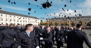 Graduates  at their passing out ceremony at the Garda College in Templemore. File photograph: Don Moloney