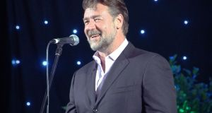 Russell Crowe's band  Indoor Garden Party are at the Olympia on Sunday