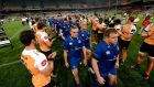 Cheetahs players clap off the Leinster team after the game. Photograph: Gerhard Steenkamp/Inpho