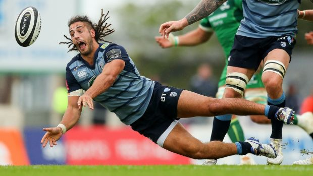 Josh Navidi in action at the Sportsground. Photograph: James Crombie/Inpho